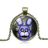 Presente promocional - Cinco noites no colar de Freddy Metal Gem Time Pendant Jewelry Cosplay