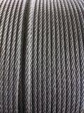 Corda nera 6X19s+FC del filo di acciaio per l'argano