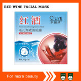 Красное вино Пор-Уменьшая лицевую маску