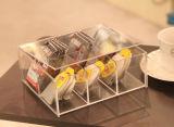Casella acrilica su ordinazione della bustina di tè del commestibile