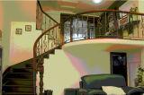 Haohan modificó la barandilla de acero galvanizada australiana europea elegante 14 de la escalera para requisitos particulares