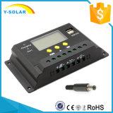 30A 12V/24V conjuguent le régulateur solaire Sm30 de batterie de panneau de chargeur d'USB-5V/3A