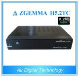 Hevc H. 265 Zgemma H5.2tc 결합 DVB-S2+ 2*DVB-T2/C는 위성 텔레비젼 수신기를 바람쐬기 위하여 해방한다