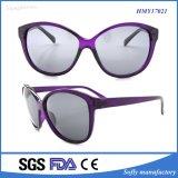 Gafas de sol del plástico del diseñador de la falsificación de la alta calidad de la promoción