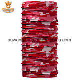 El rojo tubular del pañuelo del poliester al aire libre mágico se divierte el Bandana