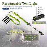 Cadena impermeable portable de la luz de la batería recargable del USB de las luces de la linterna del LED que acampa para los campistas Tent-Tl1