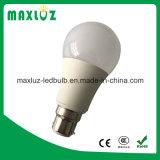 A60 E27 9W lámparas LED con 100lm. W de alta Lumen