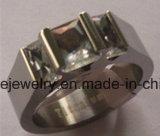Ringen van het Titanium van de Steen van de Manier van de Besnoeiing van de Draad van de Juwelen van Shineme de Rode (TR1831)