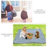 Dobleces al aire libre de la estera de la estera combinada de la comida campestre que acampan en un bolso de totalizador compacto