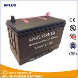 Baixa bateria acidificada ao chumbo padrão 75D31r da manutenção JIS para o mercado de México