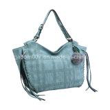 Sacchetto casuale blu della signora Tote del plaid delle 2016 di modo borse delle signore (MBNO042045)
