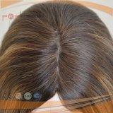 Beste Höhepunkt-Farben-Qualität verdoppelt Knoten-Kopfhaut-Oberseite-Hand gebundene Perücke