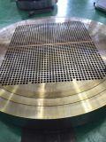 銅のニッケル合金CuNi70/30 ASTM B171 UNS C71500の管シートのバッフルの管は造られたTubesheets CuNiを造るサポート版を70/30 Cu NI 70/30めっきする