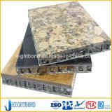 Panneau en aluminium de nid d'abeilles de granit en pierre de beaucoup de modèles pour des matériaux de construction