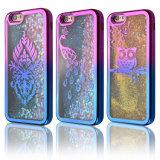 Dispositif de couverture mou circulant dynamique de l'espace libre TPU de coeur d'amour de scintillement brillant pour l'iPhone 7