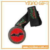 De Medaille van de Sporten van het Embleem van de douane met het Lint van de V-vorm van de Druk (yb-md-12)