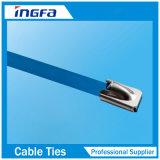 Polyester vaporisées marine 304 316 Attache de câble en acier inoxydable avec bille de métal
