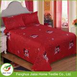 Folha de cama de casamento bonita vermelha King Size Beautiful