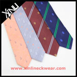 Los hombres Logotipo personalizado Tejidos Jacquard o impresas Corbata de poliéster para la escuela