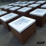 Vaidade de superfície contínua moderna do banheiro do Washbasin da pedra da resina