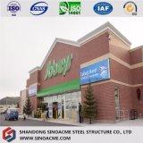 현대 다기능 조립식 강철 프레임 상점 또는 시장 건물