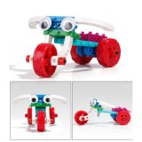 14885503-4 in Blokken van 1 de Voertuigen Veranderde van het Blok Stuk speelgoed DIY van de Uitrusting Onderwijs Creatieve Geplaatst 48PCS (de Driewieler van de Auto van de Auto van de Bumper van de Vorkheftruck)