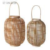 Forma diferente e única com alça de lanternas de bambu