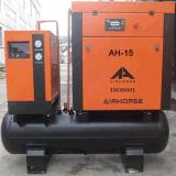 Compresor de aire rotatorio conducido eléctrico inmóvil de rosca doble