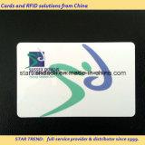 Cartão de plástico de quatro cores fora de conjunto para telefone público