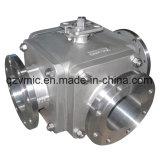 Valvola a sfera a tre vie dell'alto rilievo dell'acciaio inossidabile Q44f-40p Q45f-40p