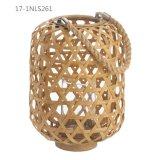Kühle eindeutige Weinlese-Art mit Griff der Webart-Bambus-Laternen