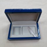 Commercio all'ingrosso di legno personalizzato blu del contenitore di imballaggio del regalo della moneta