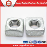 Tuercas cuadradas plateadas cinc del HDG del acero de carbón DIN557