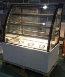 Grand congélateur en verre incurvé de boulangerie de porte/étalage commercial de gâteau (KT740A-M2)