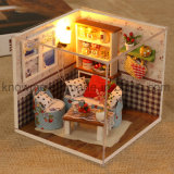 Beautiful Wooden Toy DIY Mini Doll House para Educação Infantil