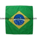 Sciarpa del quadrato del cotone stampata bandiera nazionale all'ingrosso