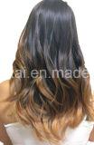 Pinza de pelo de Remy del ser humano del 100% en el color de Brown del pelo