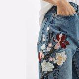 Pantaloni floreali del Harem della matita del ricamo delle donne di modo