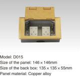 das 232*122mm Panel-Kupferlegierung knallen oben wasserdichten Fußboden-Kontaktbuchse-Anschluss
