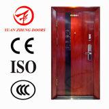 Seguridad de madera de color de la puerta de acero utilizados para la entrada de la casa