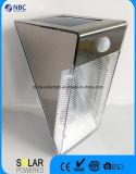 Indicatore luminoso solare solare di via della lampada da parete del sensore di Grey d'argento PIR