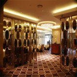 Five of meter of Height lobby Stainless Steel Decoration screen Room Divider partition Foshan Supplier