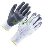 Гэри нитриловые перчатки рабочие с покрытием безопасности связано с Ce (D78-G5)