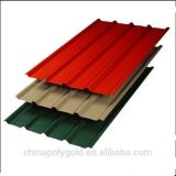 Feuille de toit en acier galvanisé/ Couleur Feuille de toit en acier ondulé (DX51D)