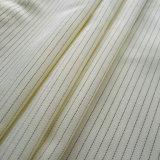 Tela del ESD del poliester del rayón con la fibra del carbón de Japón