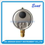 Calibre de pressão preenchido a óleo - Medidor de pressão facial de 4 polegadas - Medidor de pressão corporal de bronze