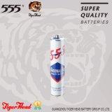 La Cabeza de Tigre 555 Tamaño AAA de la batería de la marca de papel Withe chaqueta con la calidad Super