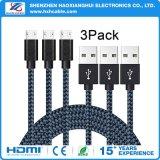 cable trenzado del móvil del nilón de 2.1A el 1m