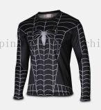 Longs collants de chemise de chemise de logo de polyester de sport à séchage rapide fait sur commande de dessin animé