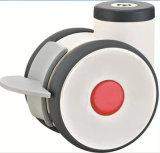 4 pouces de lits médicaux TPR Roulette pivotante avec frein